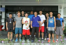 นักกีฬาบาสเกตบอลทีมชาติไทย ฝึกทักษะบาสเกตบอล